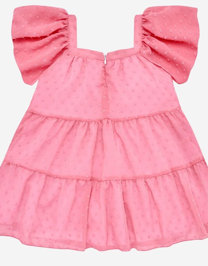 paz rodriguez Girls Pink Swiss Dot Dress