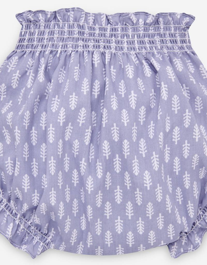 paz rodriguez Baby Girl Blue Dress & Bloomers