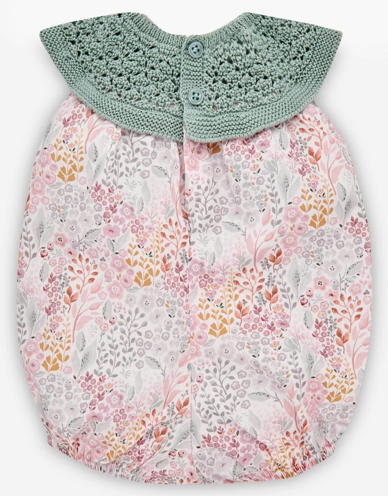 paz rodriguez Baby Girl Pink & Mint Romper