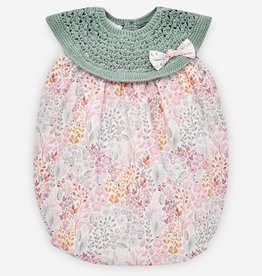 paz rodriguez Baby Girl Pink & Mint Romper
