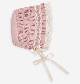 paz rodriguez Baby Girl Powder Pink Bonnet