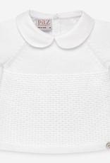 paz rodriguez Baby Boy White Knit Set