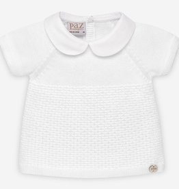 paz rodriguez Baby Boy White Knit Set