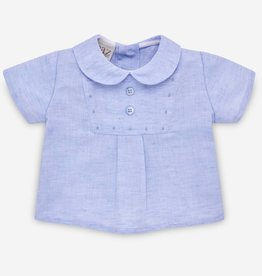 paz rodriguez Baby Boy Blue & White Short Set