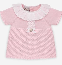 paz rodriguez Baby Girl Pink  & White Bloomer Set