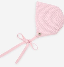 paz rodriguez Baby Girl Pink Knit Bonnet