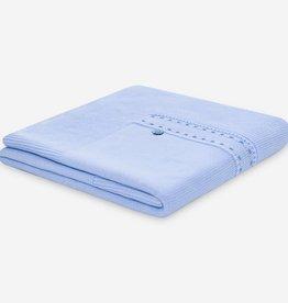 paz rodriguez Blue Knit Newborn Blanket