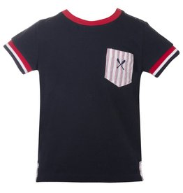 Patachou Boys Navy Pocket Tee