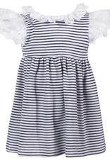 Patachou Baby Girl Navy Stripe Dress