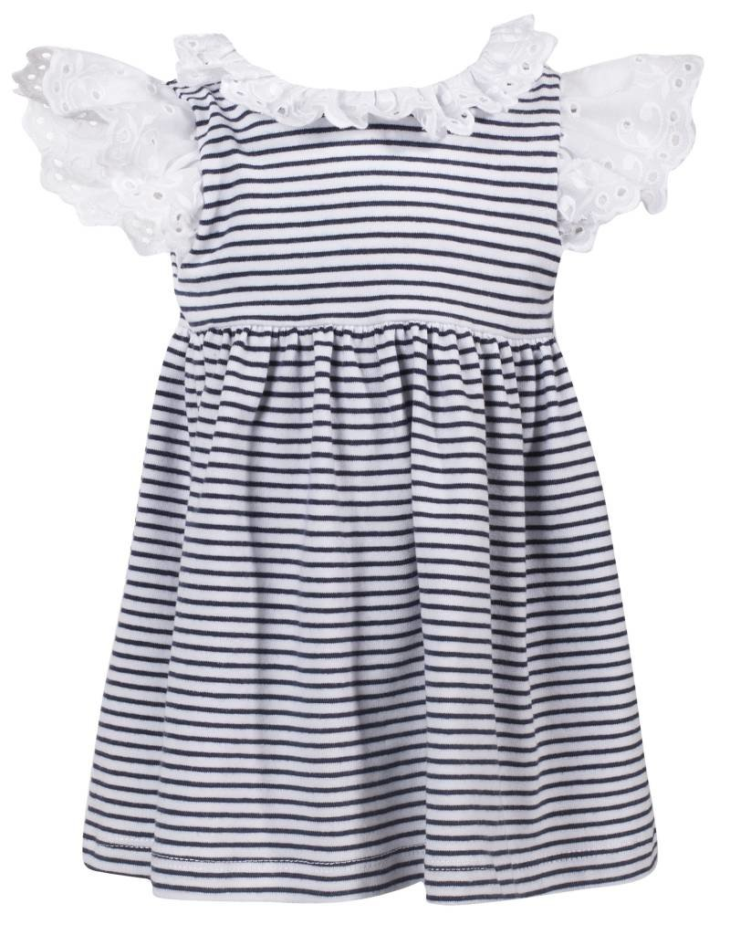 Patachou Baby Girl Navy Stripe Dress