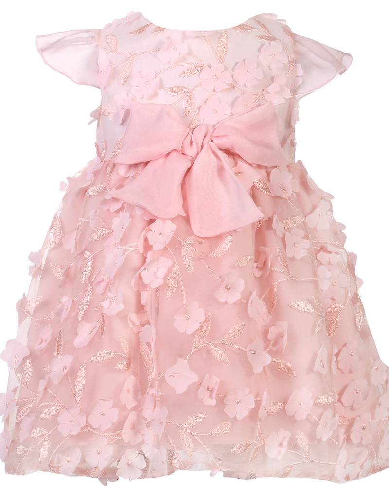 Patachou Girl Pink Flower Tulle Dress