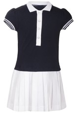 Patachou Girl Navy Polo Dress