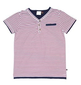 Fore Axel & Hudson Boys Red & White Stripe Henley