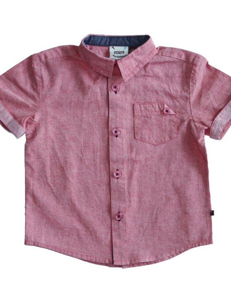 Fore Axel & Hudson Boys Red Button Down Shirt