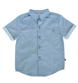 Fore Axel & Hudson Boys Green Button Down Shirt