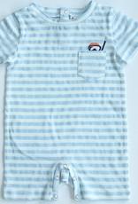Fore Axel & Hudson Baby Boy Light Blue Stripe Snorkel Romper
