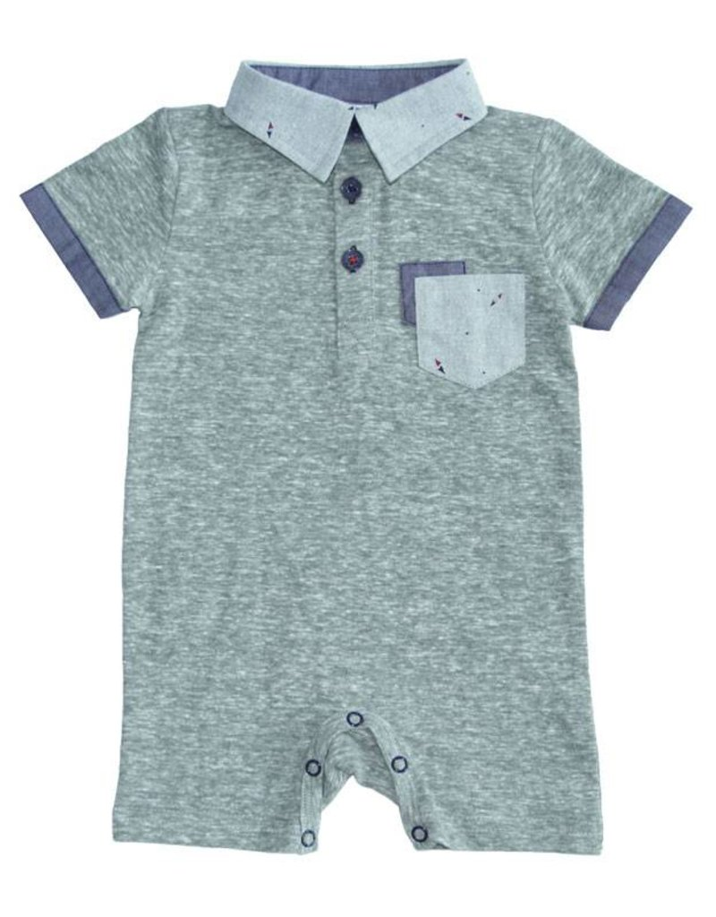Fore Axel & Hudson Baby Boy Green Polo Romper