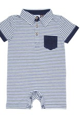 Fore Axel & Hudson Baby Boy Navy Stripe Polo Romer