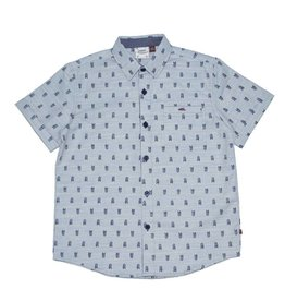 Fore Axel & Hudson Boys Blue Arrow Feather Print Shirt