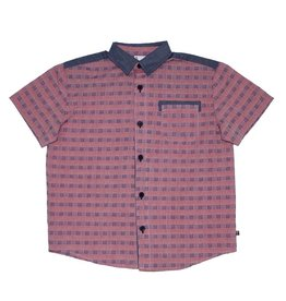 Fore Axel & Hudson Boys Chambray & Red Shirt