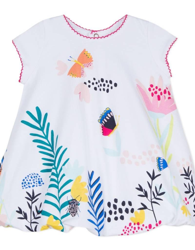 Catimini Girls White Butterfly Bubble Dress