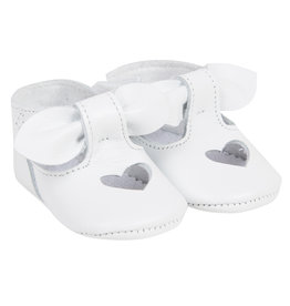 Lili Gaufrette Baby Girl White Leather Shoes