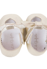 Lili Gaufrette Baby Girl Gold Leather Shoes