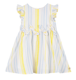 Lili Gaufrette Yellow & Blue Stripe Dress