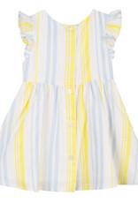Lili Gaufrette Yellow & Blue Stripe Dress