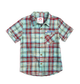 Appaman Boys Teal Plaid Shirt
