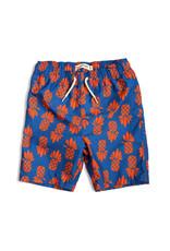 Appaman Blue & Orange Pineapple Swim Trunks