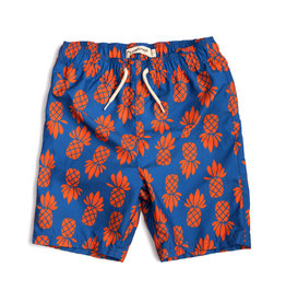 Appaman Blue & Orange Pineapple Swim Trunks