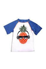 Appaman Boys Blue & White Pineapple Rash Vest