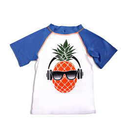 Appaman Boys Blue & White Pineapple Rash Vest