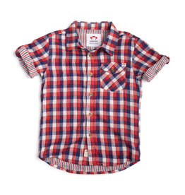Appaman Red, White & Blue Check Shirt