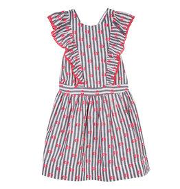 Lili Gaufrette Grey Stripe Dress