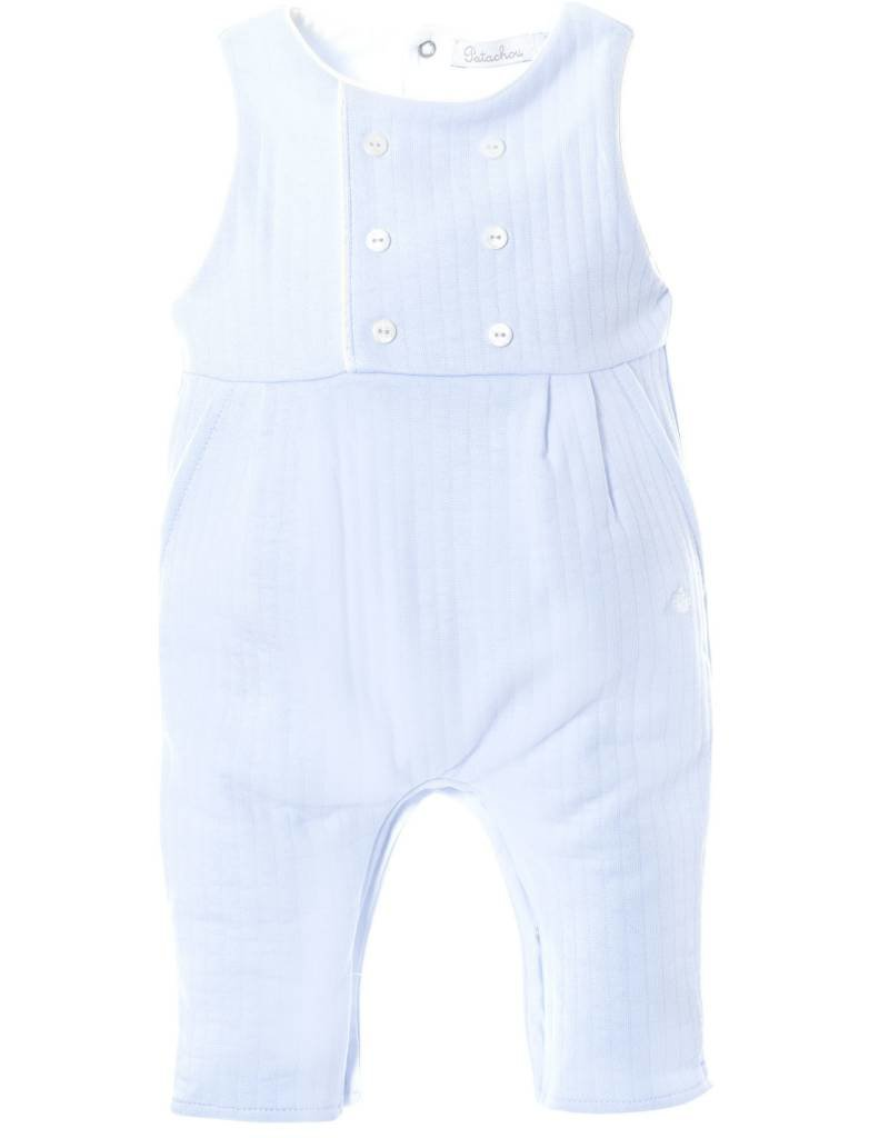 b608ef325 Patachou Blue Boy Knit Romper - Doodle   Stinker Children s Boutique