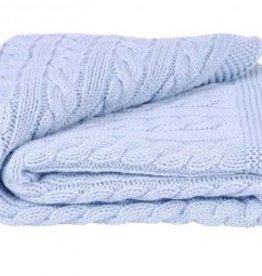 Toffee Moon Blue Receiving Blanket