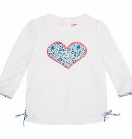 Sunuva White Liberty Heart Rash Guard