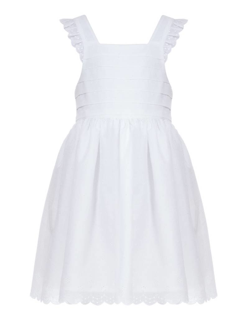 bbc75fd0a4b25 Patachou Girl s White Eyelet Dress - Doodle   Stinker Children s ...