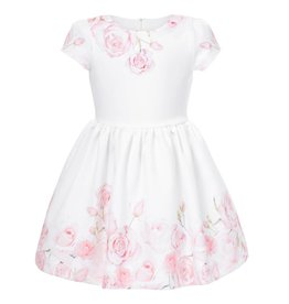 Patachou Pink Rose Print Dress