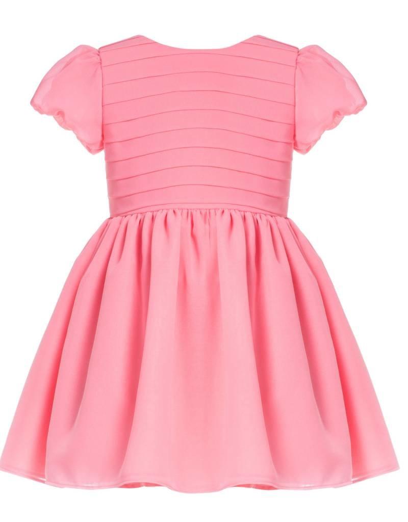 b34de47662762 Coral Chiffon Dress - Doodle   Stinker Children s Boutique