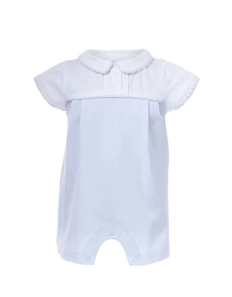 a01123e09 Patachou Baby Blue Knit Romper - Doodle   Stinker Children s Boutique