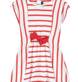 Catimini Catamini Red Striped Dress