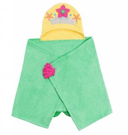 zoocchini Girls' Hooded Towel