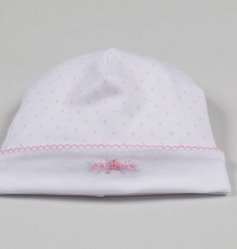 Kissy Kissy Pink Heart Embroidered Hat
