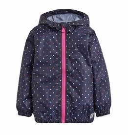 Navy Dot Rain Jacket