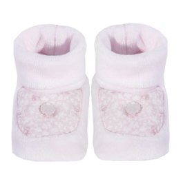 Patachou Pink Velour Booties