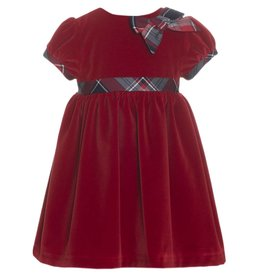 Patachou Red Tartan Velvet Dress