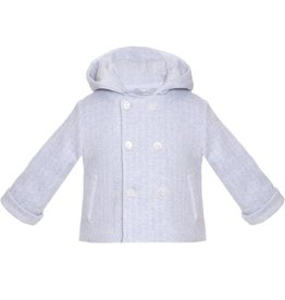 Patachou Blue Knit Hooded Jacket